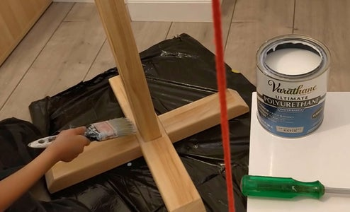 Woodworking - Painting With Clear Protective Top Coat