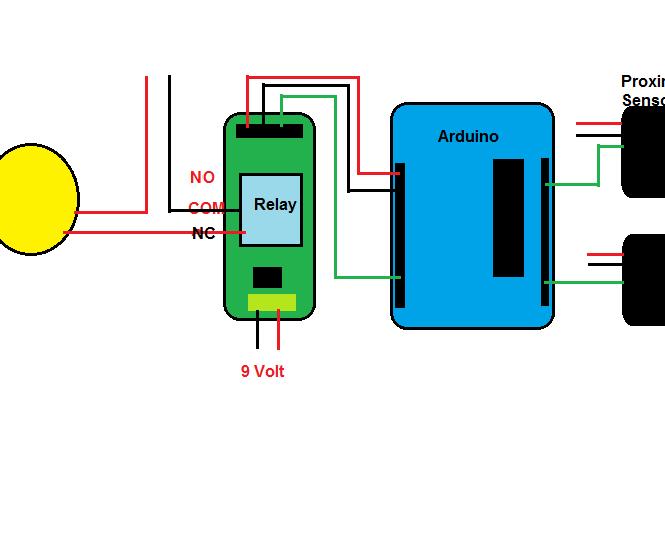 Automatic Switching of light using IR proximity sensor