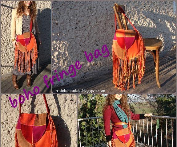 Fringe Patchwork Boho Bag