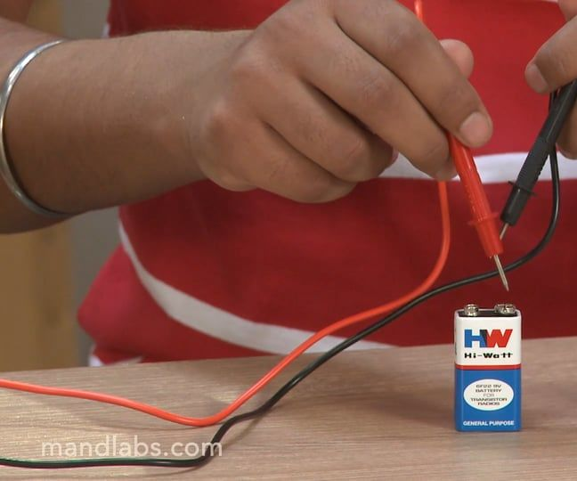 Mand Labs Episode 4: Measuring Battery Voltage Using a Multimeter