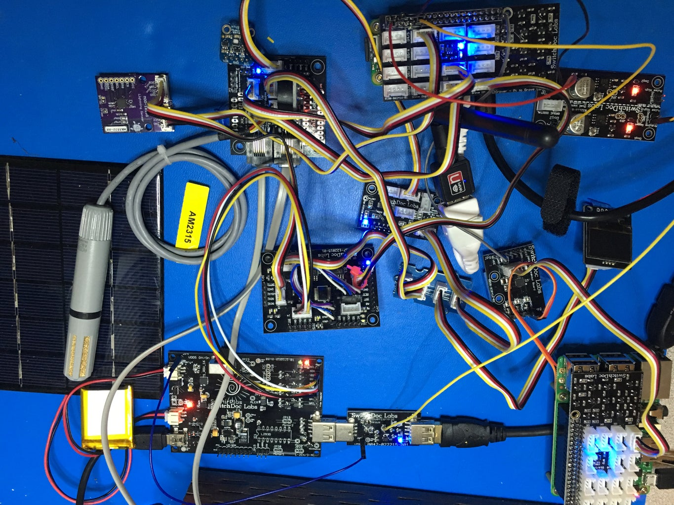 The Wiring List for the GroveWeatherPi