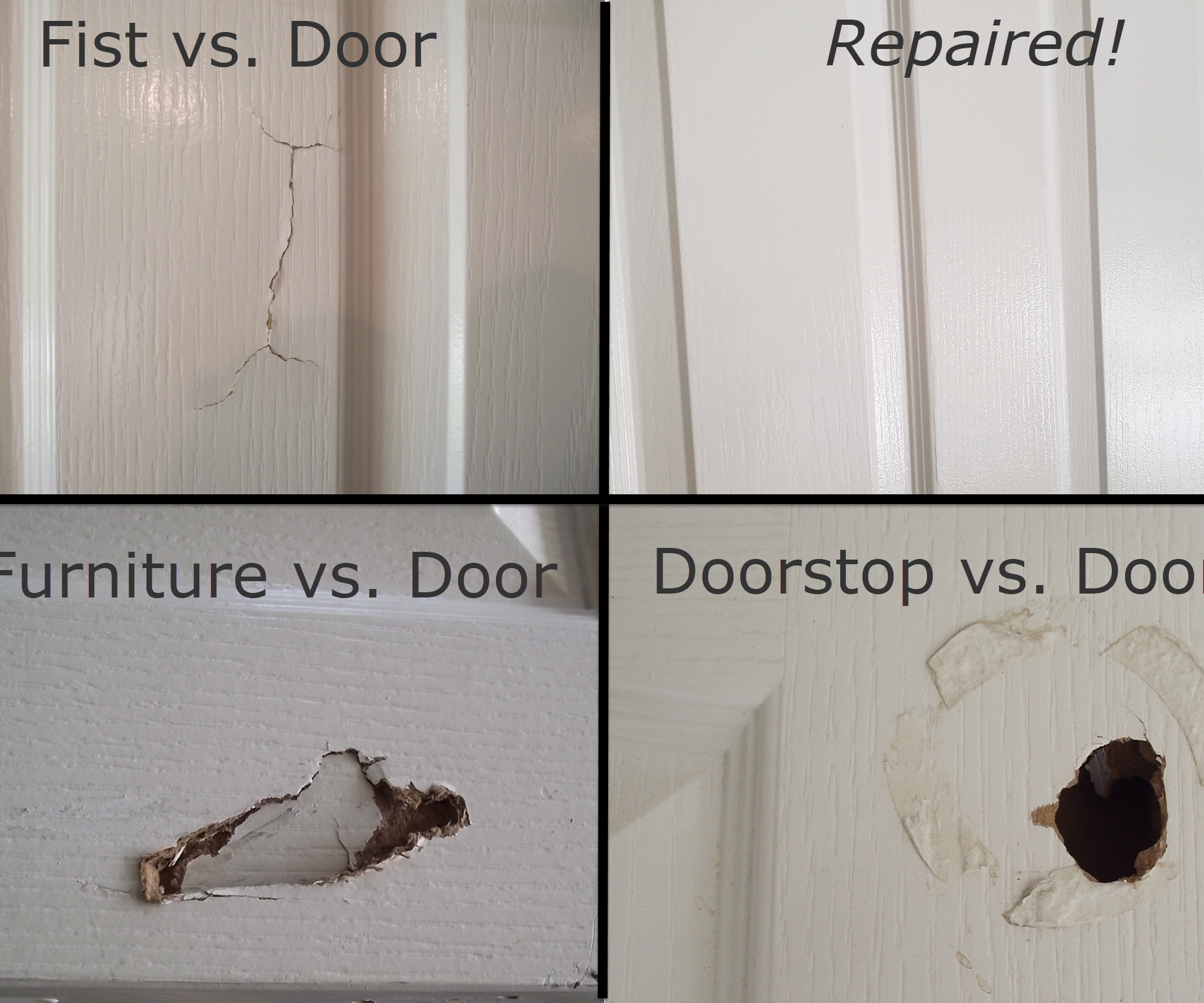 How to Fix a Hole in a Hollow Core Door : 11 Steps (with Pictures