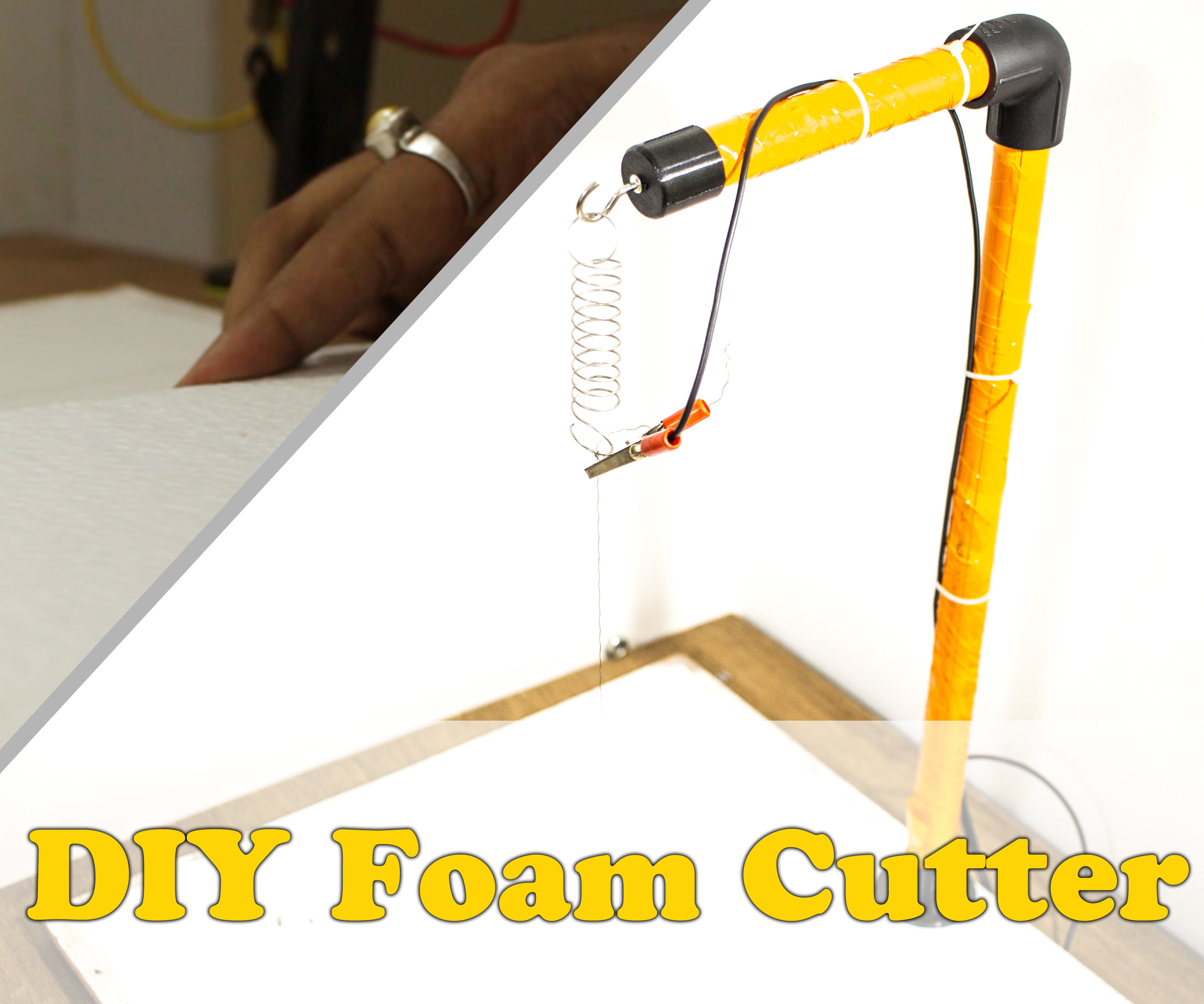 $5 DIY Hot Wire Styrofoam Cutter