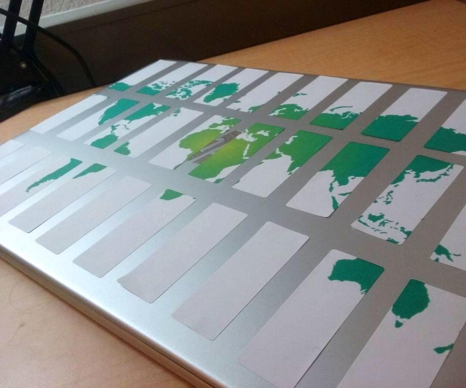 DIY World Map Computer Decal