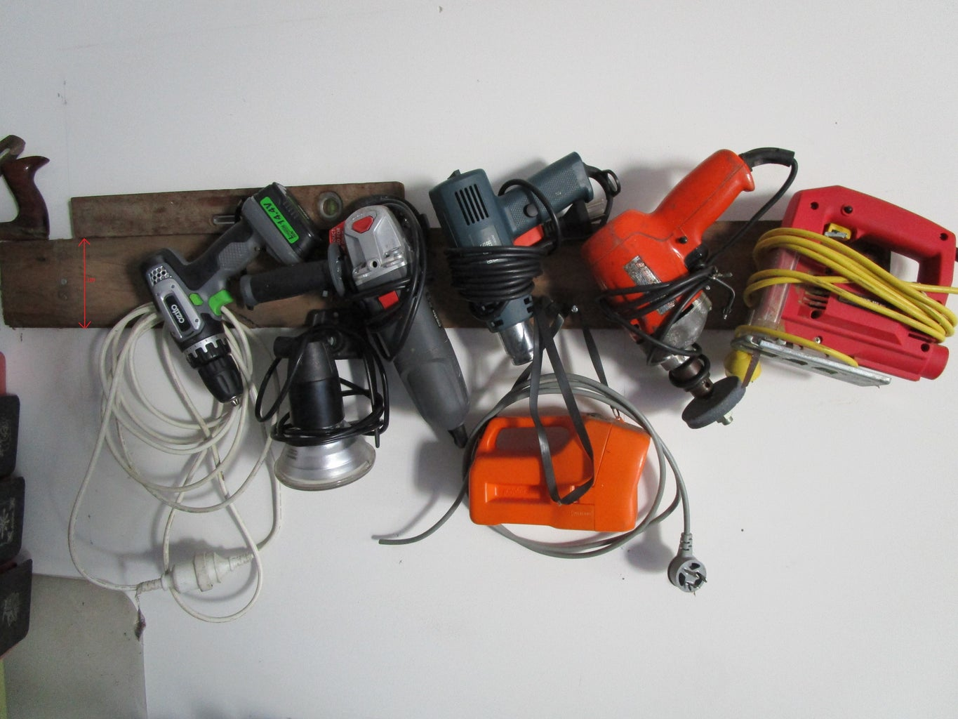 Fast, Easy and Almost No Cost Power Tool Storage