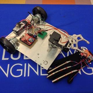 Handgesture Controlled Robot With Robotic Arm