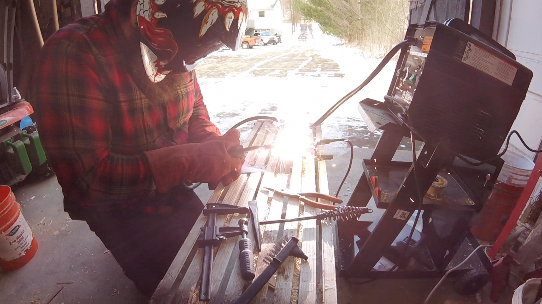 Preparing the Metal for the Base and Welding It Together!