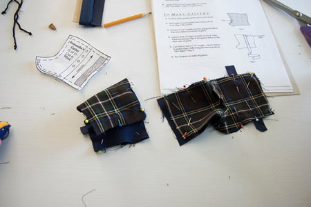 Making the Boot Gaiters.
