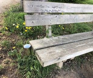 Park Bench Trashcan