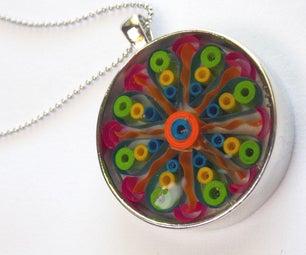 Quilled Mandala Pendant