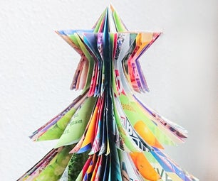 Simple up-cycled paper Christmas tree🌲