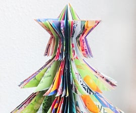 Simple Up-cycled Paper Christmas Tree