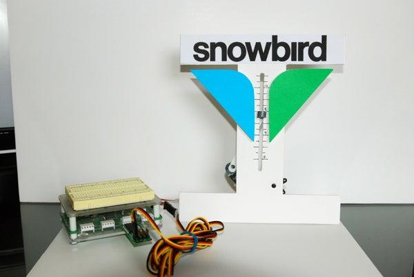 Ski Resort Desk Snow Meter (Snowbird)