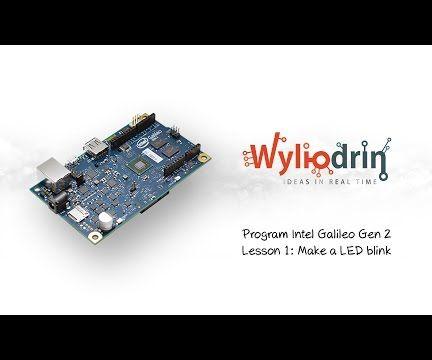 Blink a LED on Intel Galileo and Visual Programmig