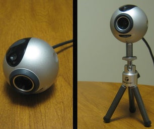 Tripod Support for a QuickCam (or Other Webcam)