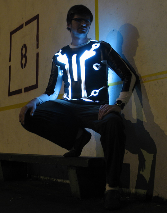 LED-lit Tron v2.0 suit