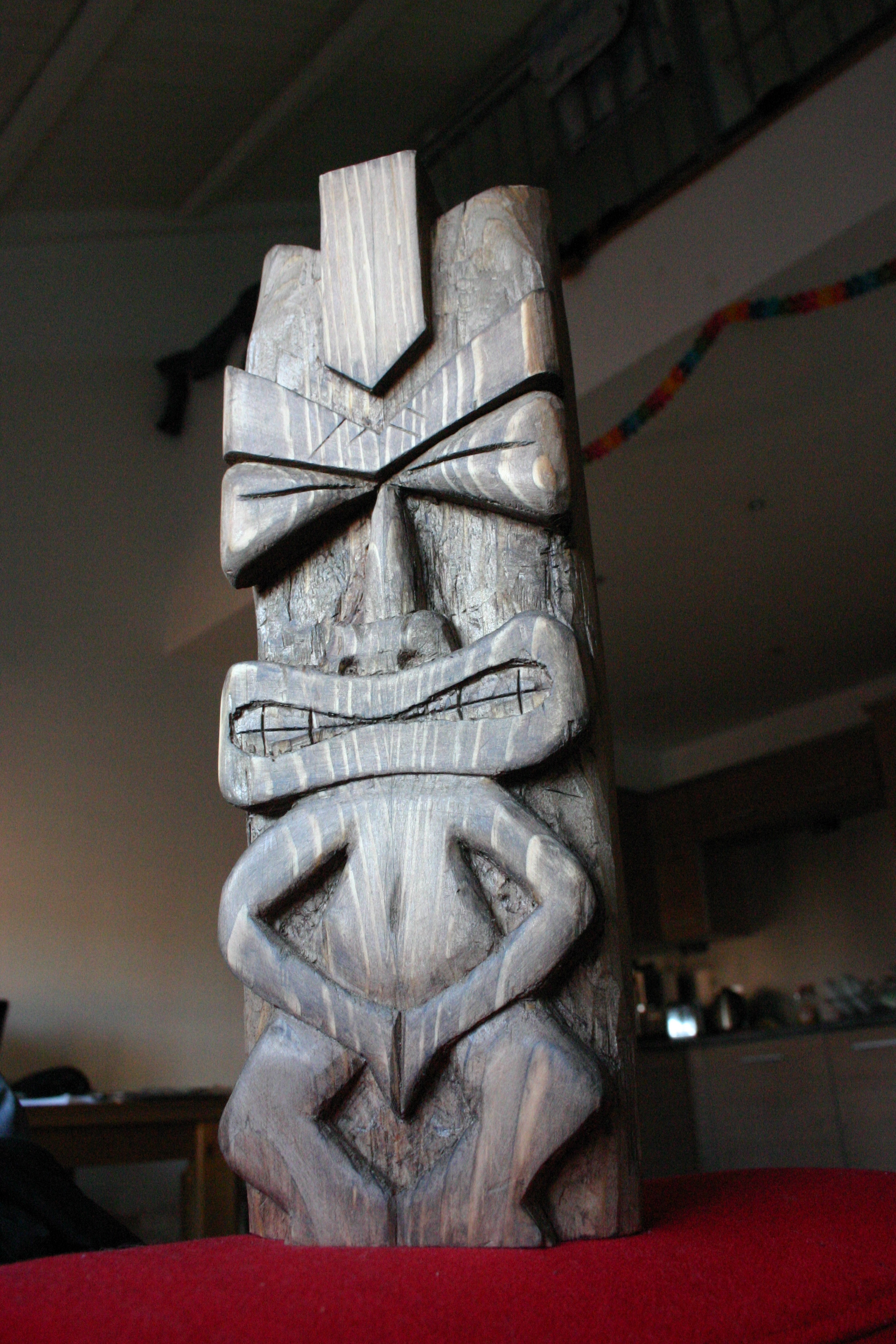 Chisel Carved Tiki Idol