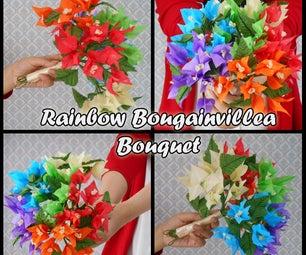 TISSUE PAPER FLOWERS: RAINBOW BOUGAINVILLEA BOUQUET