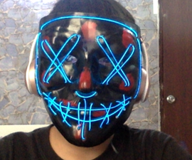 Light Up Anonymous Mask