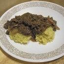 Pepper Steak-umm and Cheesy Rice
