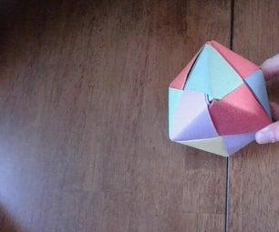 Rainbow Origami Modular Cube (Sonobe)