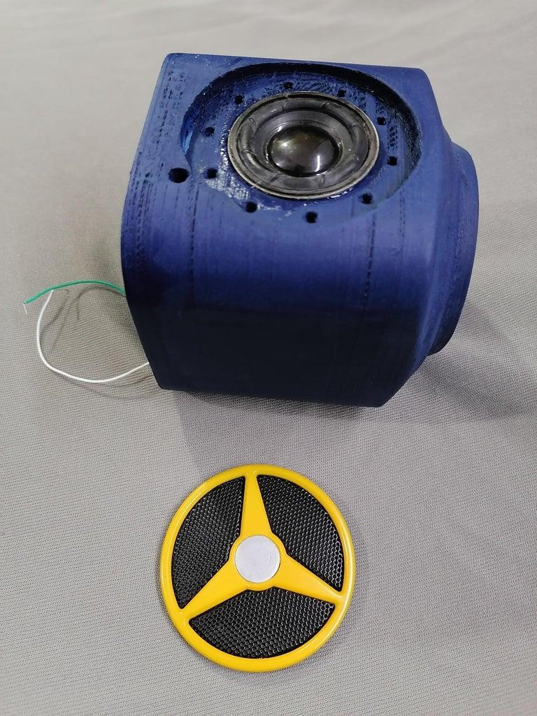 Insert Speaker Front Lid to Hide Speaker