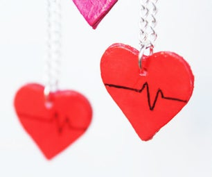 DIY Upcycled Paper Heart Charms