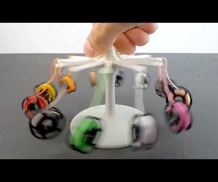Mini Filament Spool and Earring Carousel Stand