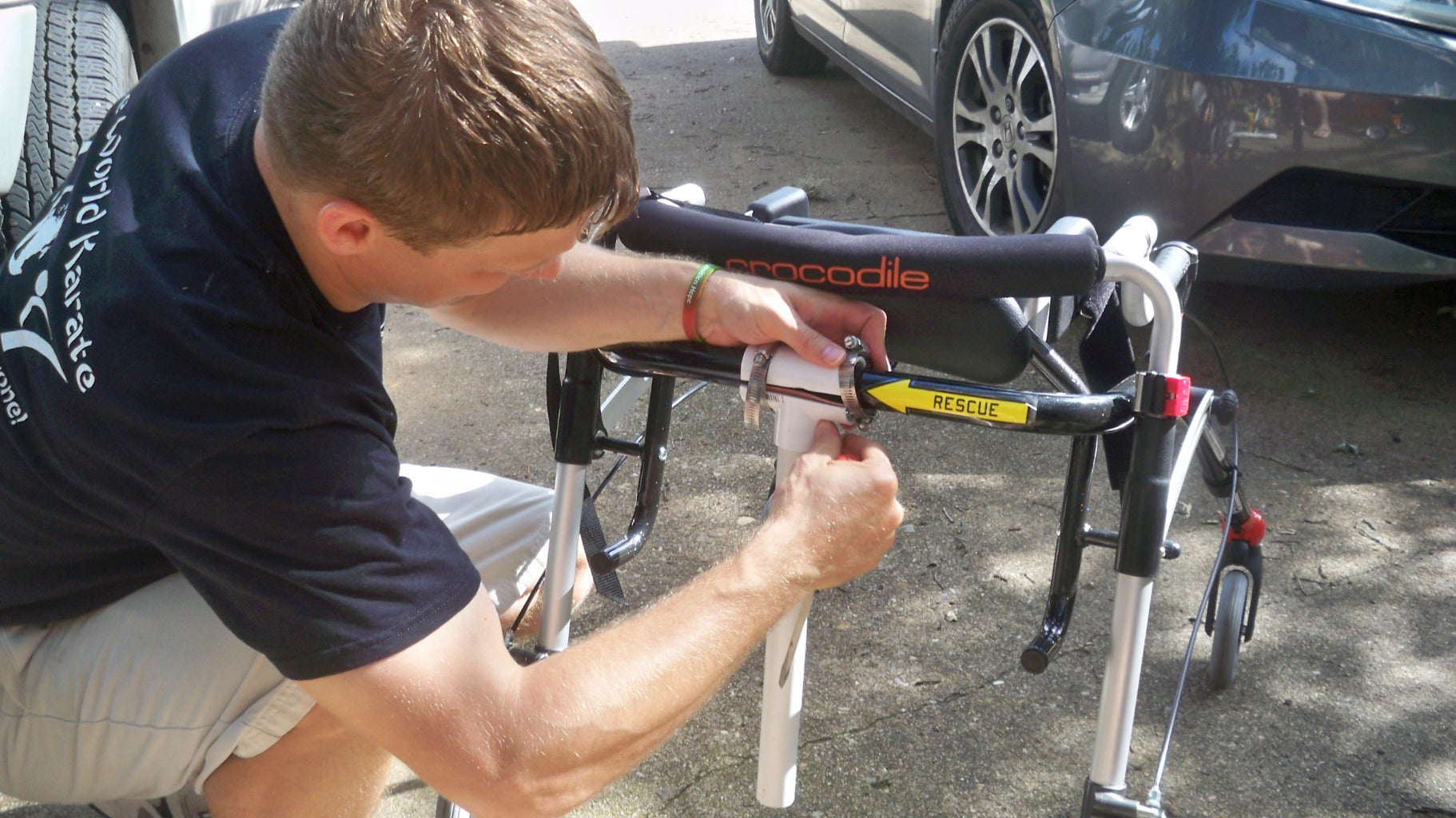 Build Vertical Brace and Attach to Walker