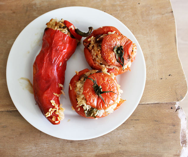 Stuffed Tomatoes - Greek Gemista - Vegan - Gluten Free