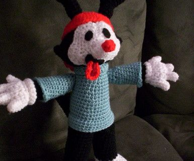 Wakko Warner crochet doll