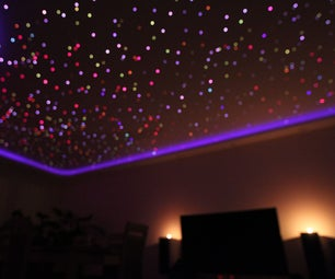 Music Reactive Fiber Optic Star Ceiling Installation