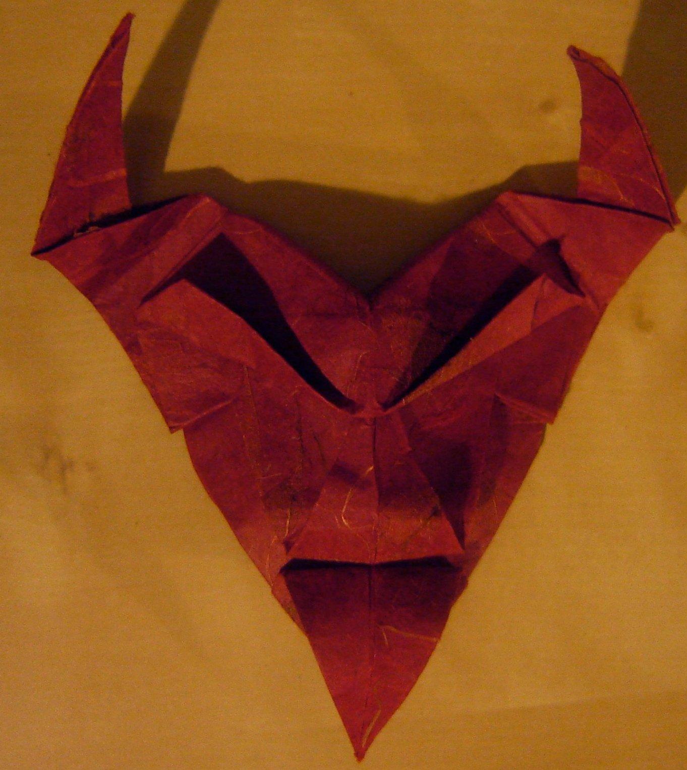 Origami Devil Mask