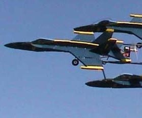 Flying Formation of Blue Angels