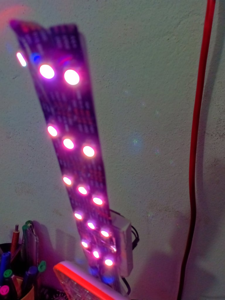 Neopixel Controlled With Nodemcu
