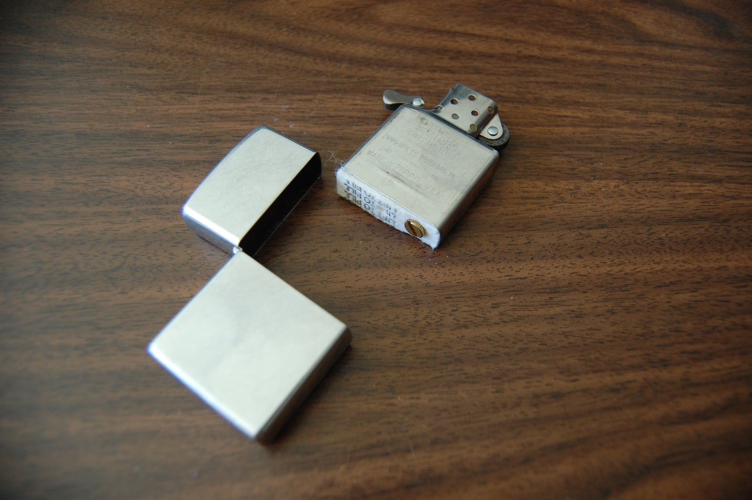 Disassembly and Zippo Modification