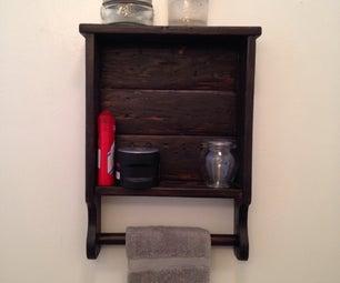 Bathroom Shelf From Pallet Wood