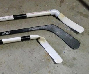 DIY PVC Hockey Sticks
