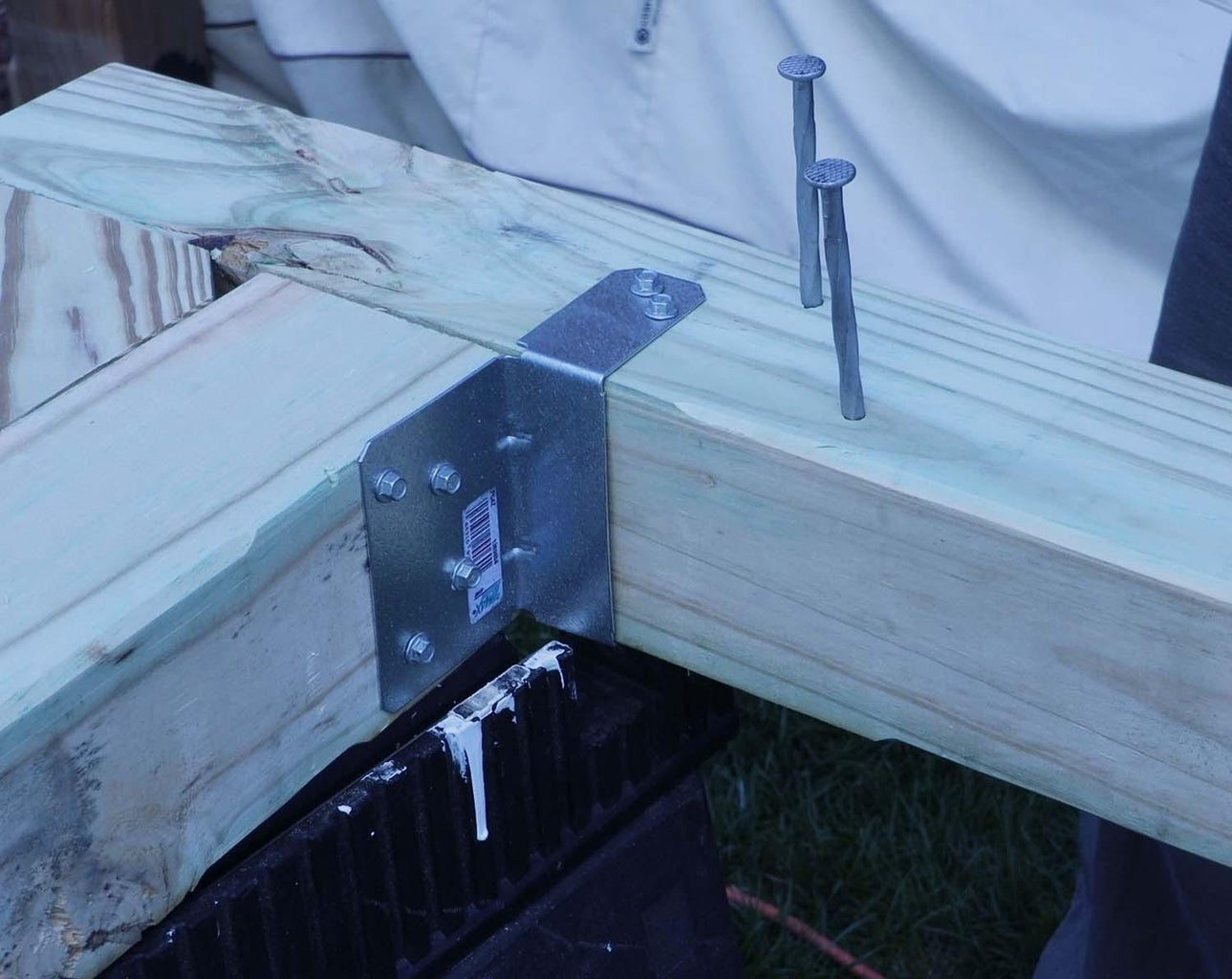 Measure for Spacer Placement, Chamfer Edges, Start Timber Ties