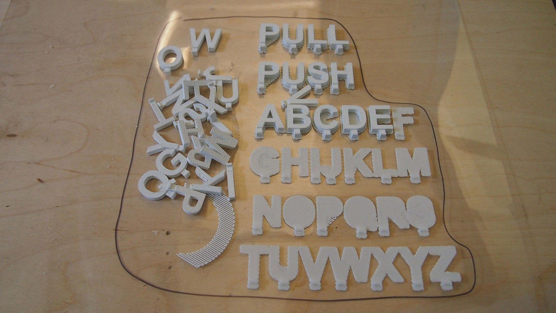 Attempt #2 - 3D Print the Letters in the Fortus