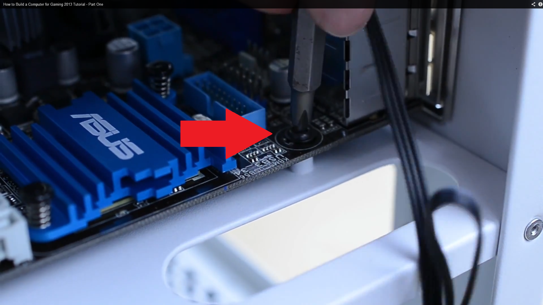 Secure the Motherboard to the Case