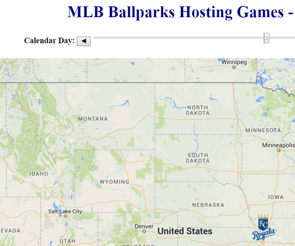 Plan Your Summer Baseball Trip With a Dynamic Web App Map