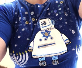 Happy Hanukah Shirt Makeover