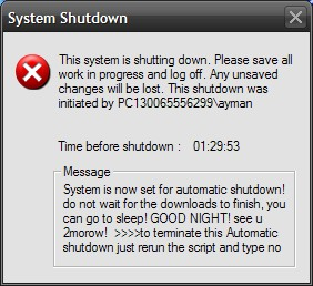 Program your PC to turn off automatically by asigning which time you want it to do that