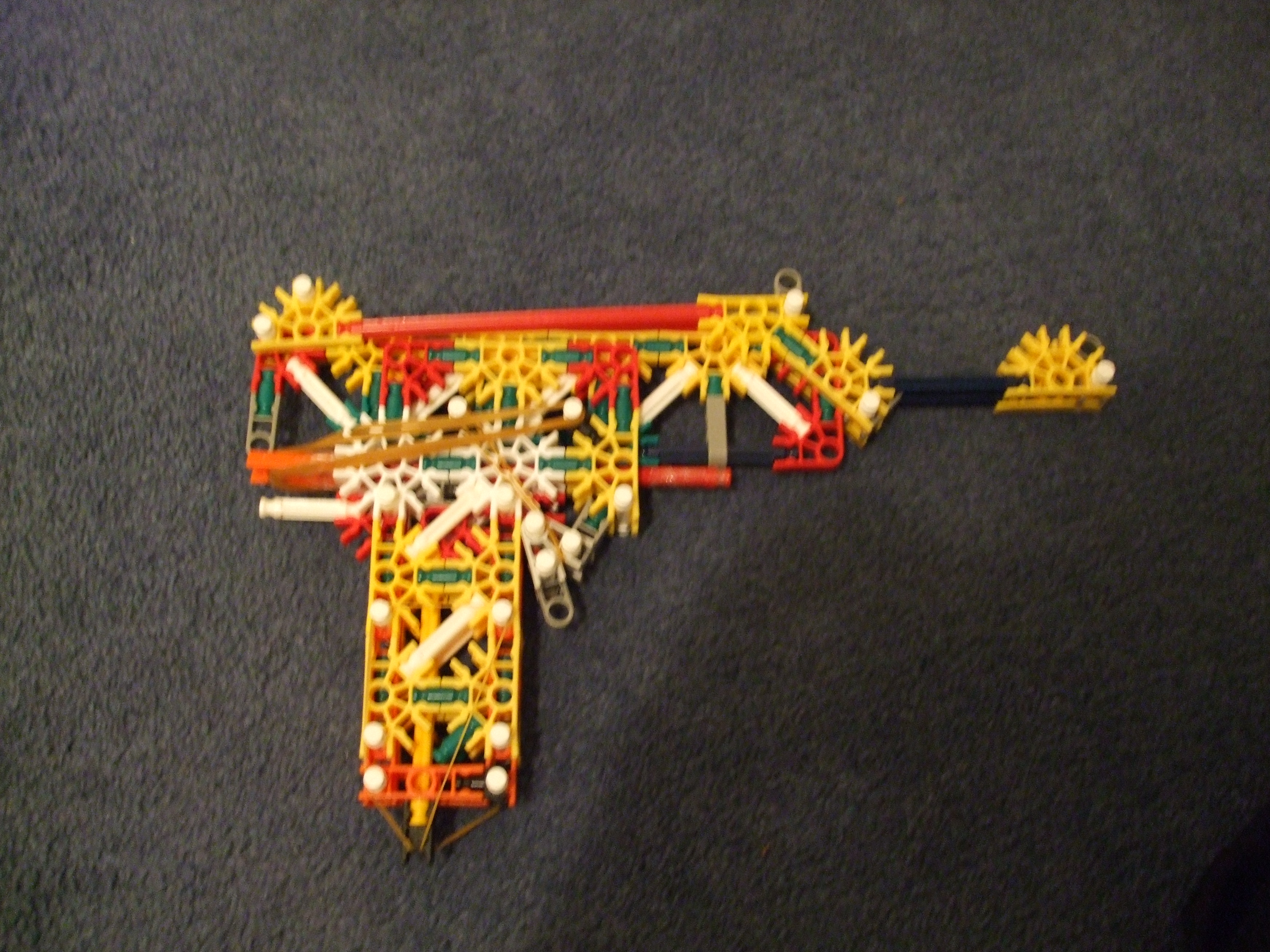 Knex pistol with magazine and folding stock