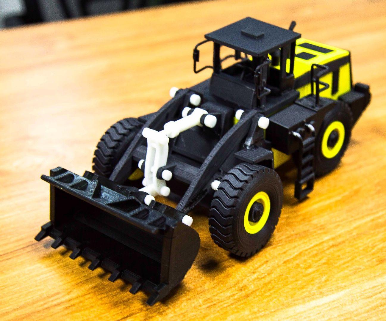 A 3D Printed Bulldozer