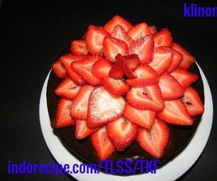 Strawberry Flower - Chocolate Cake
