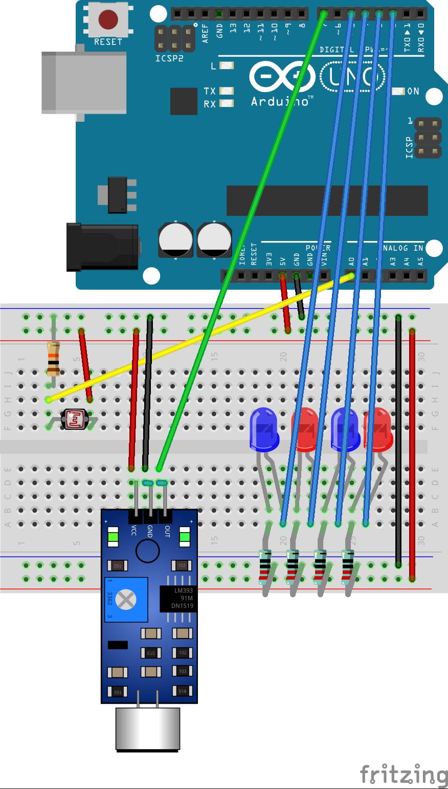 Arduino: Breadboard & Schematics