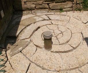 Custom Spiral Stone Brick Patio