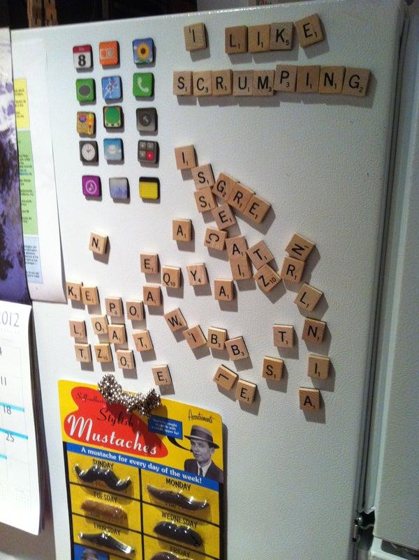 Scrabble Fridge Magnets!